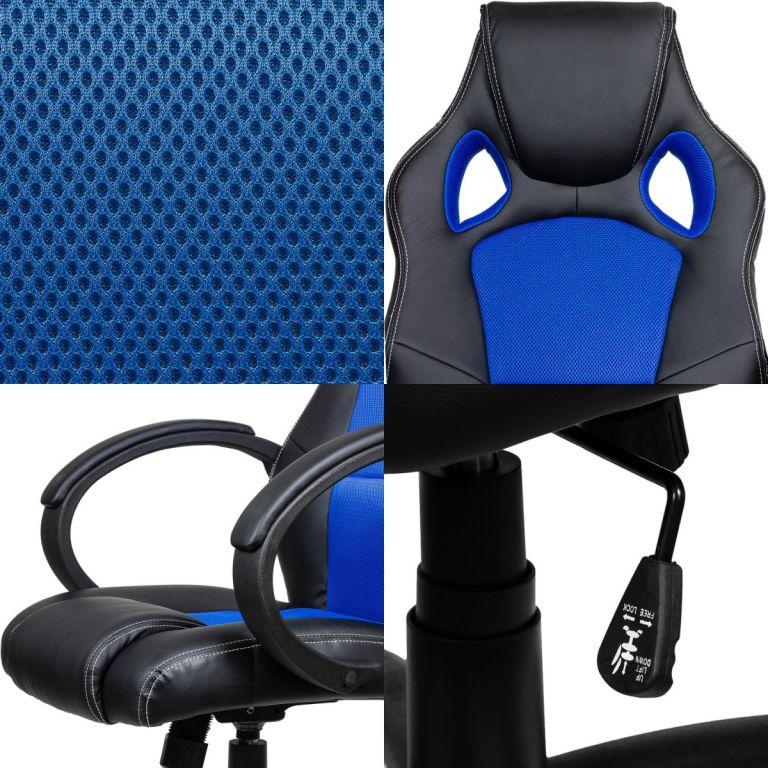 Fotel biurowy obrotowy MX Racer niebieski