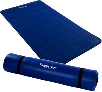 Mata piankowa MOVIT do jogi i gimnastyki 190 x 100 x 1,5 błękit królewski
