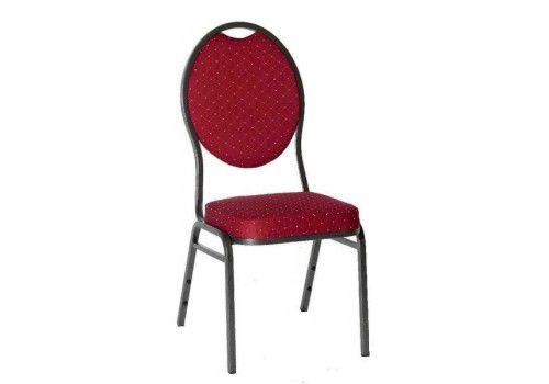 Krzesło metalowe wysokiej jakości Monza - czerwone