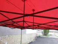 Ogrodowy namiot party DELUXE nożycowy - ściany bocznej - 3 x 3 m niebieski