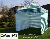 Namiot ogrodowy PROFI STEEL 3 x 4,5 - zielony - biały