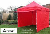 Namiot ogrodowy PROFI STEEL 3 x 4,5 - czerwony
