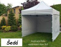 Namiot ogrodowy PROFI STEEL 3 x 6 - szary