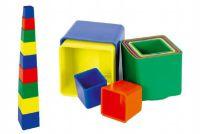 Kubus Piramida puzzle kwadratowe plastikowe 9szt. - 4 kolor