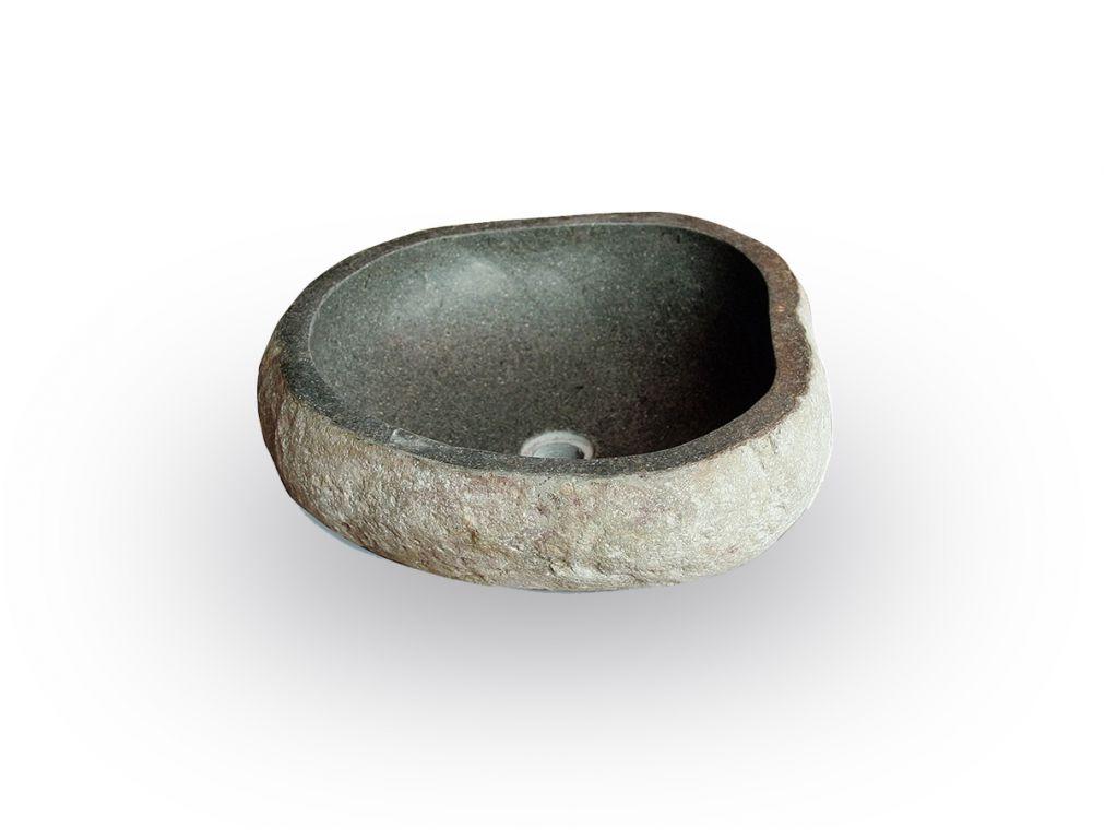 Umywalka z rzecznego kamienia naturalnego The Lavabo Cut