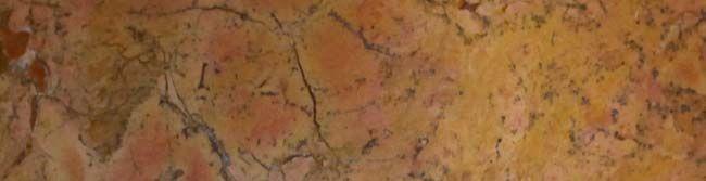 Umywalka z kamienia naturalnego Gemma 501 polerowany marmur Ø45 cm Yellow.