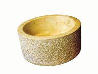 Umywalka z naturalnego kamienia MIRUM 509 Ø40 cm - kolor żółty