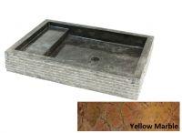 Kamienna umywalka Kotak Trap Marmo Yellow