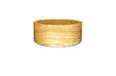 Umywalka z naturalnego kamienia Myrus 509 Ø40 - kolor żółty
