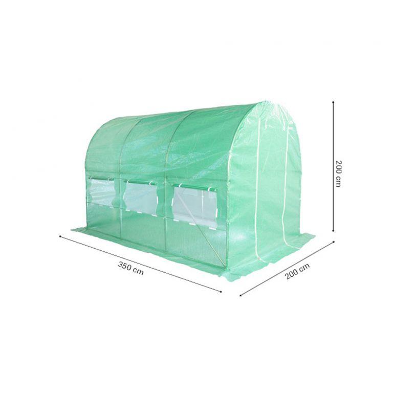 TUNEL FOLIOWY 2 X 3,5 M (7 M2) ZIELONY