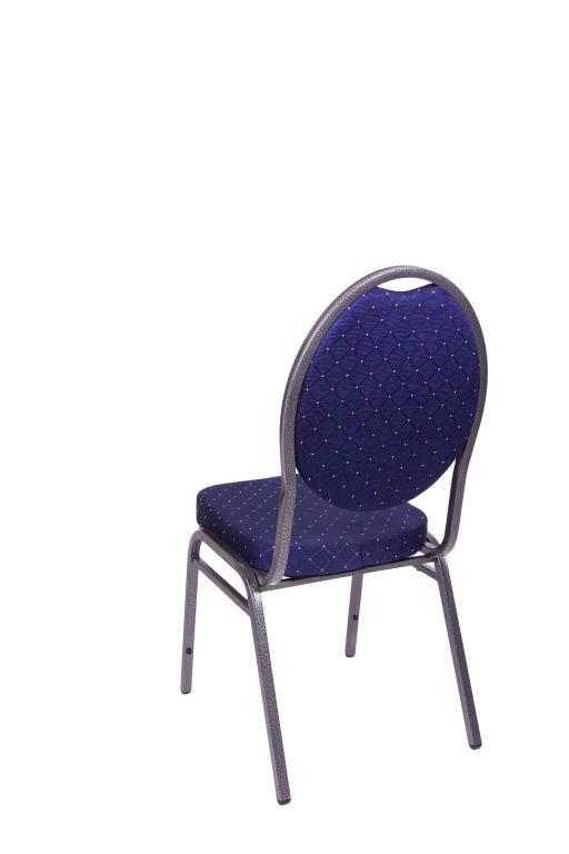 Jakościowe krzesło metalowe Monza- granatowe