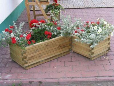Kwietnik ozdobny drewniany ogrodowy mały