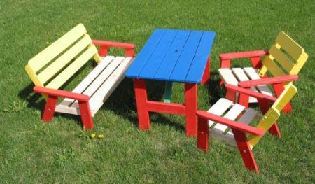 Drewniany zestaw ogrodowy dla dzieci KASIA FSC