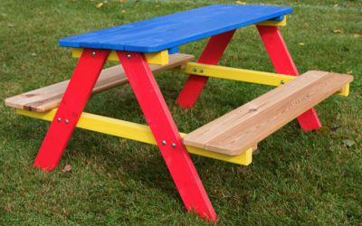 Dziecięcy, drewniany zestaw ogrodowy PIKNIK FSC