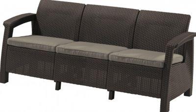 Sofa ogrodowa CORFU LOVE SEAT MAX brązowa