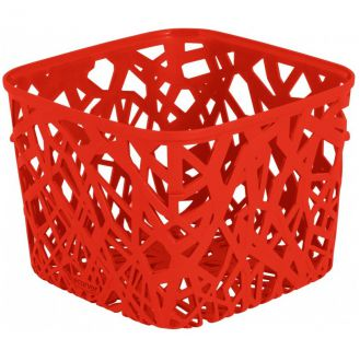 Kosz plastikowy NEO SQUARE - czerwona CURVER