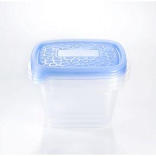 Zestaw 3x plastikowy pojemnik Take Away 1,1L - niebieska