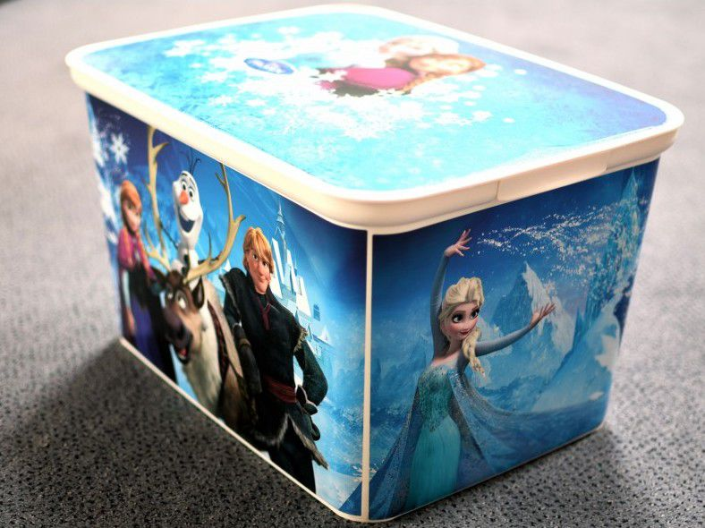 Dziecięca skrzynia na zabawki - Królestwo Zimy - L CURVER