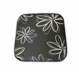 Poduszka na krzesło SABA - szara z kwiatami 30200-700