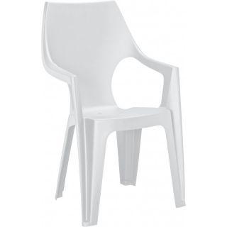 Krzesło z plastiku DANTE - białe
