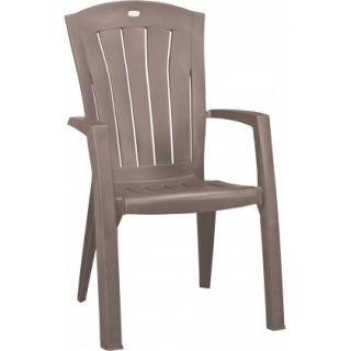 Fotel z tworzywa sztucznego SANTORINI - cappuchino