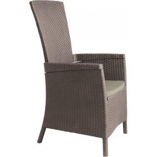 Luksusowe plastikowe krzesło VERMONT - cappuchino
