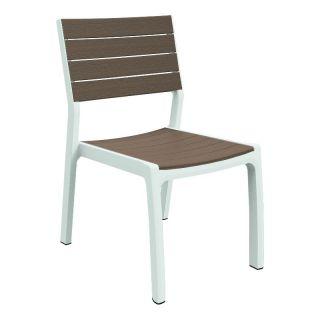 Designerskie krzesło ogrodowe HARMONY - białe + cappuchino