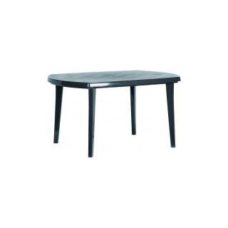 Plastikowy stół owalny ELISE - kolor grafit
