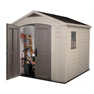 Domek z tworzywa sztucznego ogrodowy FACTOR 8x8