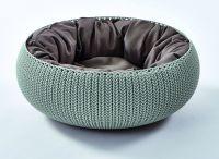 Łóżko dla małych zwierząt KNIT - szaro-niebieska
