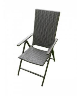 Krzesło ogrodowe wykonane ze sztucznego rattanu