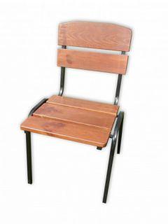 Ogrodowe krzesło drewniane do układania w stos  WEEKEND FSC