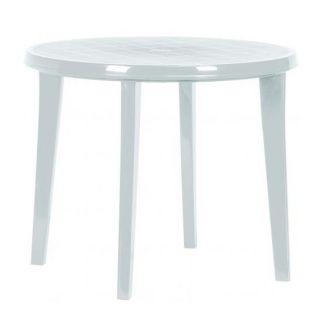 Stół plastikowy LISA 90 cm biały