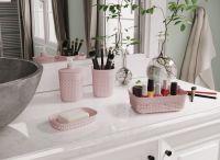 Plastikowy kubeczek na szczoteczki FILO - różowa